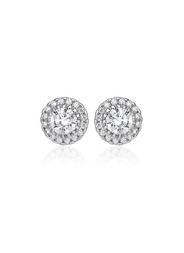 0,70 ct Pırlanta Efekt Altın Alina Küpe-Tophills Diamond Co.